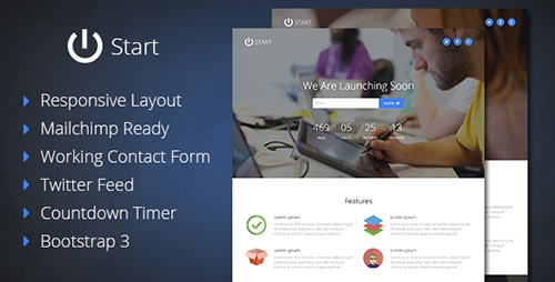 ThemeForest - Start - Coming Soon Responsive Template - FULL