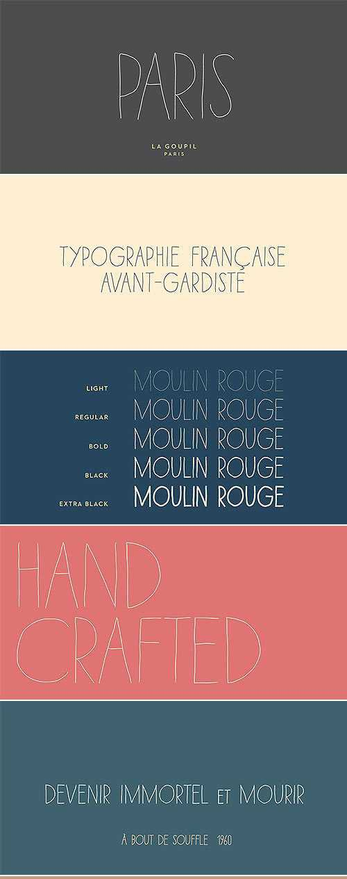 Paris Avant-Gardist Handwritten Font Family