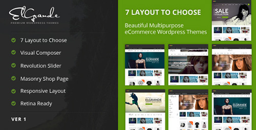 ThemeForest - Elgrande v1.1.7 - 7 Beautiful Layouts eCommerce Theme