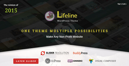 ThemeForest - Lifeline v3.0.3 - NGO Charity Fund Raising WordPress Theme