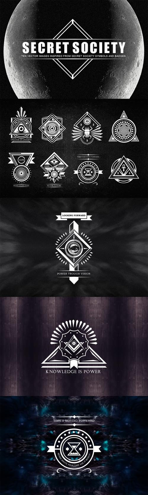 Secret Society Badges