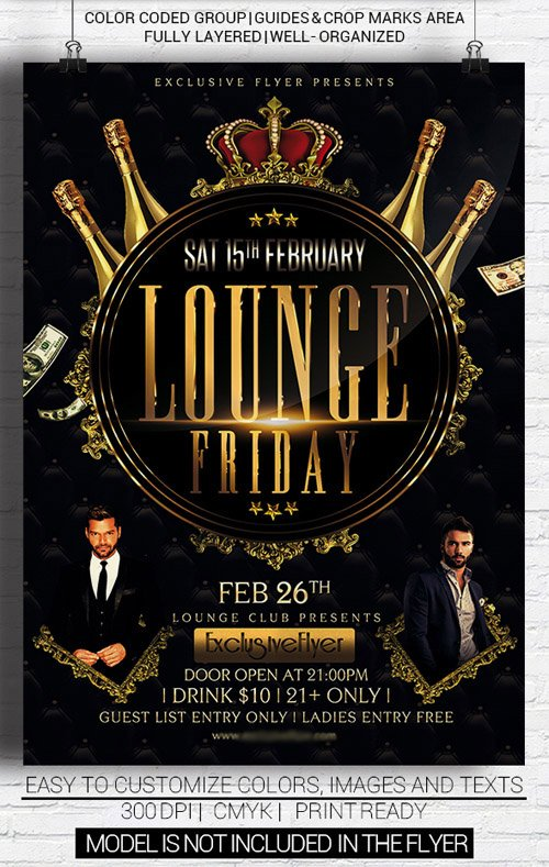 Flyer Template Lounge Friday Party NitroGFX Download Unique – Lounge Flyer Template
