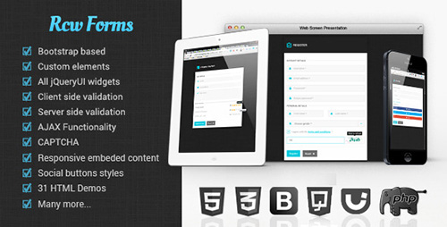 CodeCanyon - Rcw forms v1.0.0 - Flat, flexible form framework