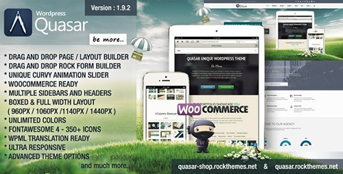 ThemeForest - Quasar v1.9.2 - Wordpress Theme with Animation Builder