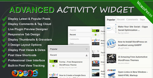 CodeCanyon - Advanced Activity Widget v2.0