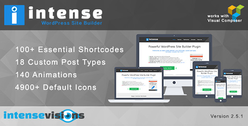 CodeCanyon - Intense v2.5.0 - Shortcodes and Site Builder for WordPress