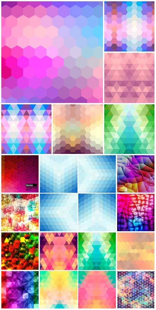 Bright multi-colored backgrounds, abstract vector
