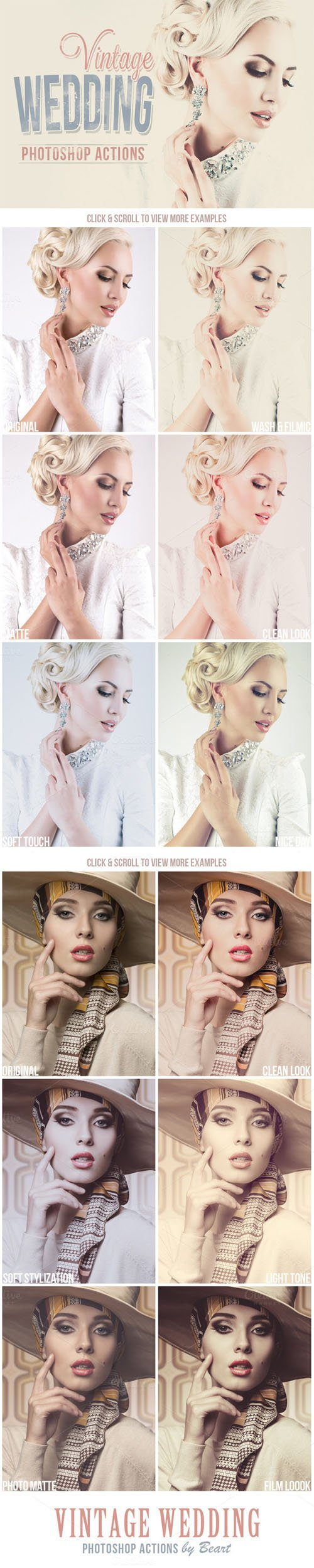 Vintage Wedding Photoshop Actions - CM 153624