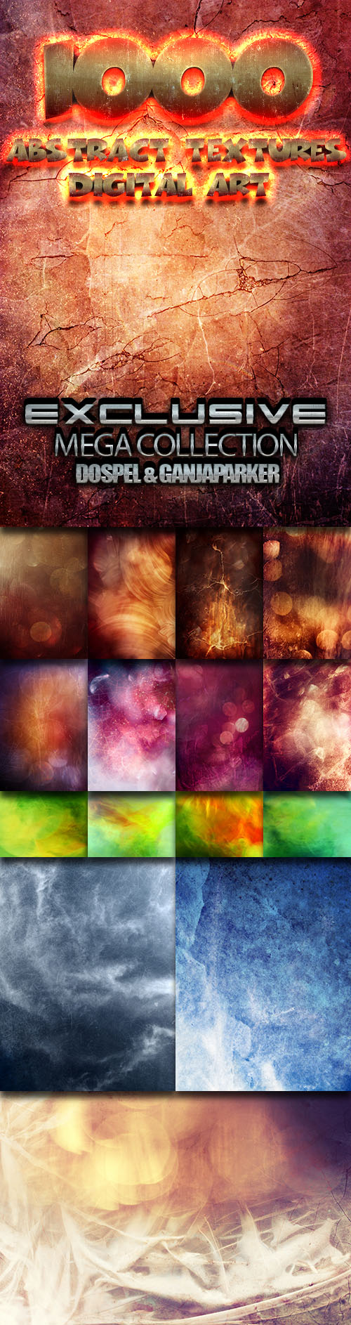 MEGA Collection - 1000 Abstract Textures - Digital Art