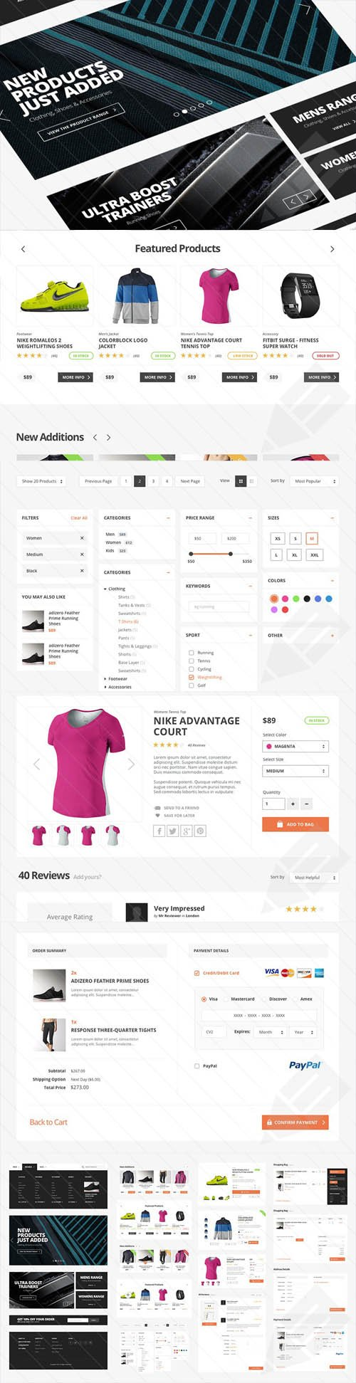 UI Kit PSD - Active Store