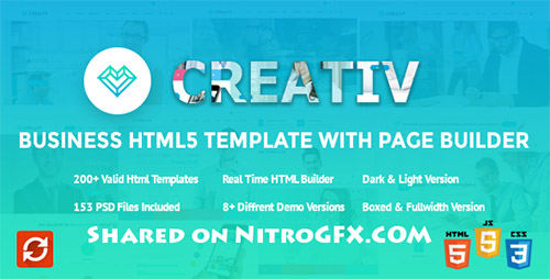 ThemeForest - Creativ v1.0.2 - Business HTML5 Template with Page Builder - FULL