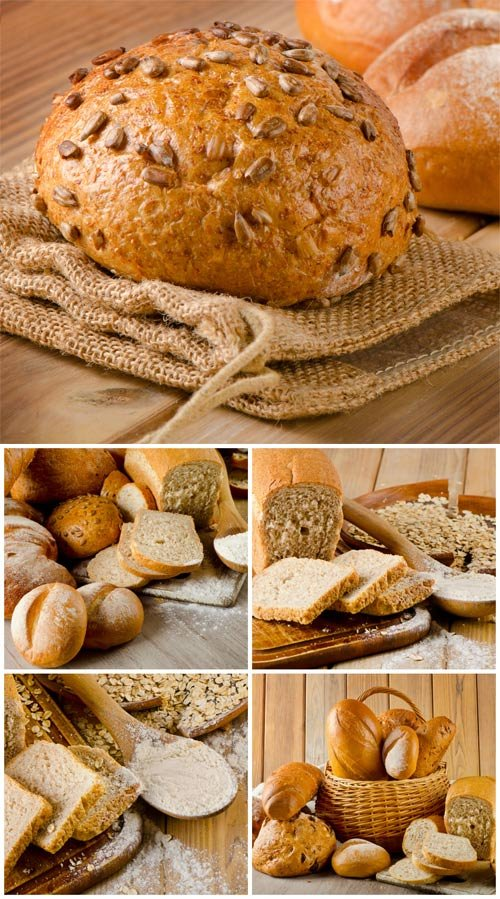 fresh bread  basket with bakery products