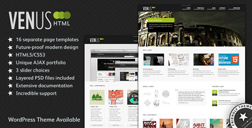 ThemeForest - Venus: Business & Portfolio HTML Theme - FULL