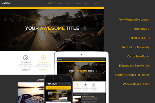 CreativeMarket - Nation Responsive Bootstrap Theme