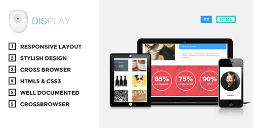 ThemeForest - Display v1.0 - Responsive HTML Theme - FULL