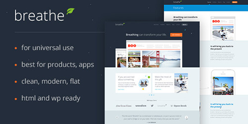 ThemeForest - Breathe Product PSD Template
