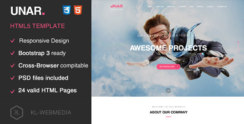 ThemeForest - Unar - Creative HTML5 Template - RIP