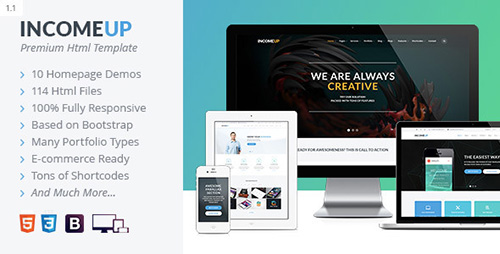 ThemeForest - IncomeUp | Multi-purpose Business HTML Template - RIP