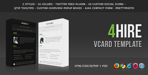ThemeForest - 4HIRE - Elegant vCard Template - FULL