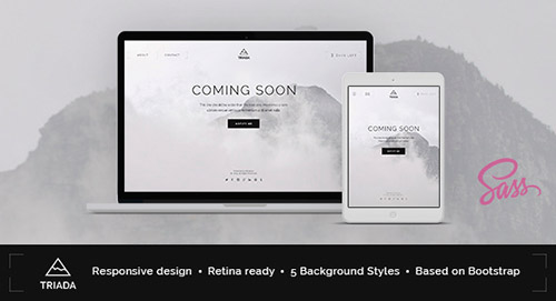 ThemeForest - Triada - Creative Coming Soon Template - RIP