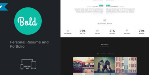 ThemeForest - Bold - Personal Resume and Portfolio - RIP