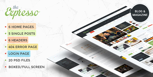 ThemeForest - Expresso - A Modern Magazine and Blog Template - RIP