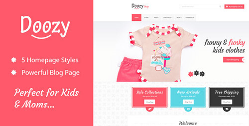 ThemeForest - Doozy v1.1.1 - Kindergarten & Ecommerce Template - FULL