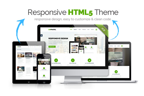 CreativeMarket - Emphatic - Responsive HTML5 Theme