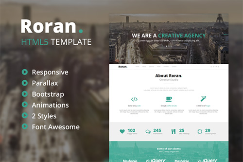 CreativeMarket - Roran - One Page Bootstrap Template