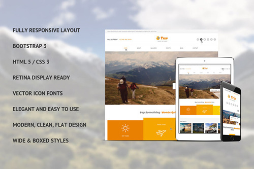 CreativeMarket - Trip Bootstrap Template