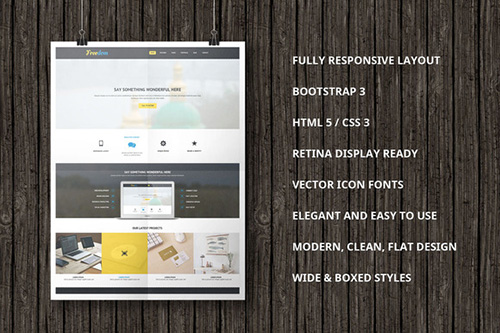 CreativeMarket - Freedom Bootstrap Template