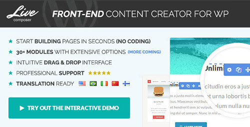 CodeCanyon - Live Composer v1.1.5 - Front-End WordPress Page Builder