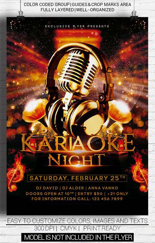 Flyer Template Psd - Karaoke Night » Nitrogfx - Download Unique