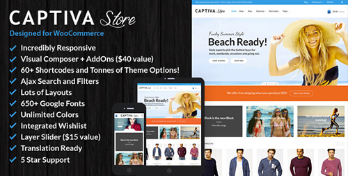 ThemeForest - Captiva v1.5.1 - Responsive WordPress WooCommerce Theme