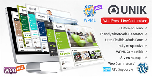 ThemeForest - Unik v1.4 - Ultra-Customizable WordPress Theme