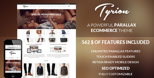 ThemeForest - Tyrion v1.6.0 - Flexible Parallax e-Commerce Theme
