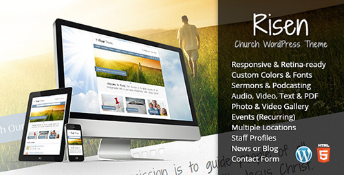 ThemeForest - Risen v2.1 - Church WordPress Theme (Responsive)