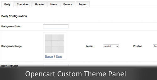 CodeCanyon - Custom Themes Panel Opencart Module v1.0