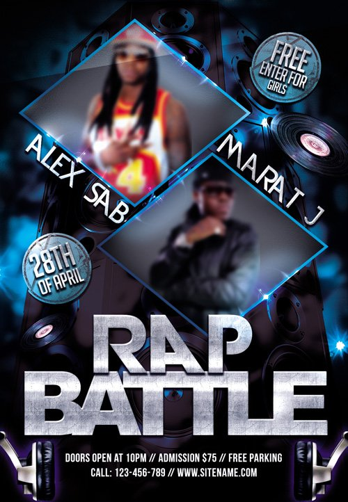 28 rap template graphicriver rap battle flyer