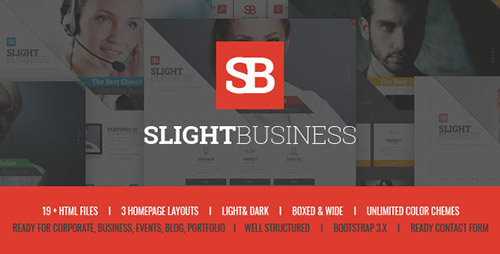 ThemeForest - Slight Business - Responsive Corporate Template - RIP