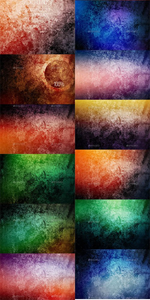 Grunge Backgrounds Set 2