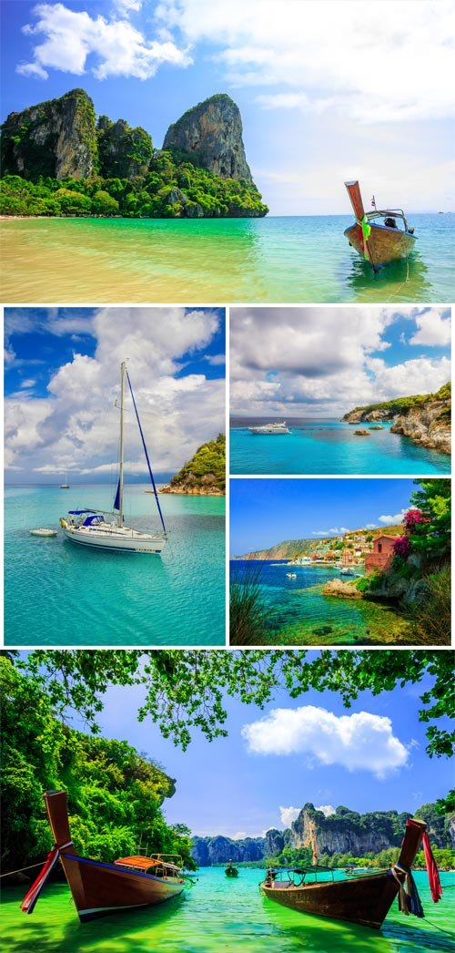 Seascapes, paradise island - stock photos
