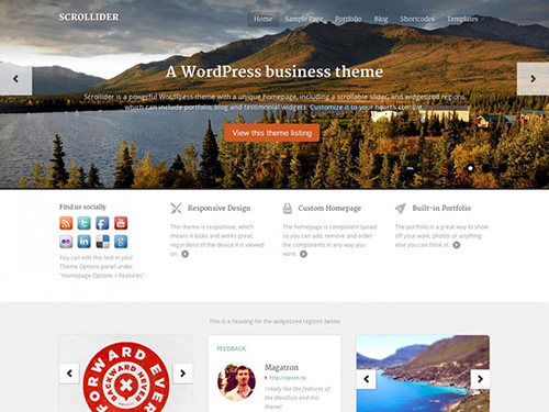 WooThemes - Scrollider v1.4.4 - Theme For WordPress