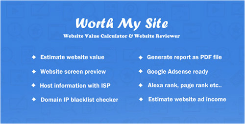 CodeCanyon - Worth My Site v1.3 - Website Value Calculator