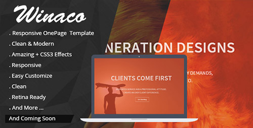 CodeGrape - Winaco - Responsive One Page Template