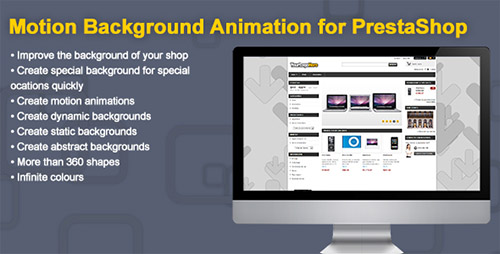 PrestaCheap - Motion Background Animation v1.0 for PrestaShop
