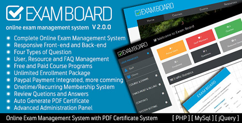 CodeCanyon - Exam Board v3.0.0 - Online Exam Management System