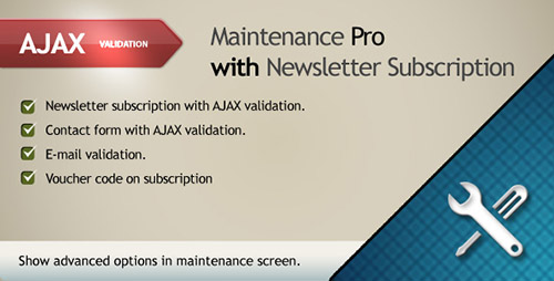 PrestaCheap - Maintenance Pro with Newsletter Subscription v1.0 for PrestaShop