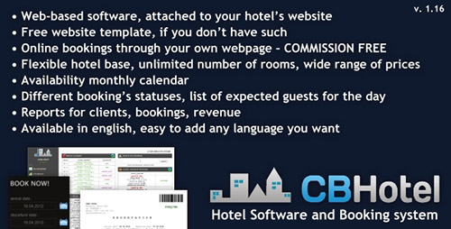 CodeCanyon - Hotel Software and Booking system v1.16