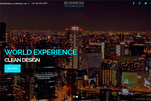 CreativeMarket - Business Technology - One Page HTML Theme